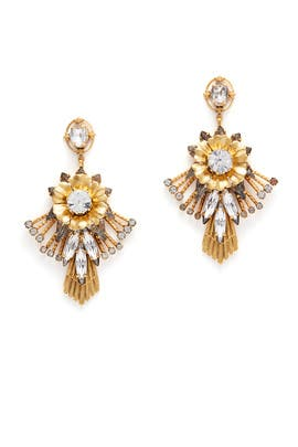 Bloom Flare Chandelier Earrings by Elizabeth Cole