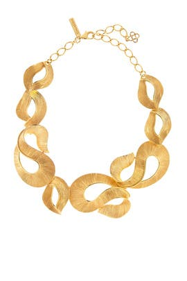 Twisted Gold Necklace by Oscar de la Renta