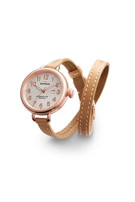 Rose Gold Birdy Watch by Shinola