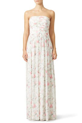 Pink Floral Isabelle Maxi by ERIN erin fetherston