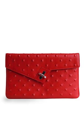 Lipstick Stud Milck Clutch by ela Handbags
