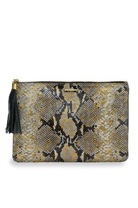 Snake Uber Clutch by Gigi New York