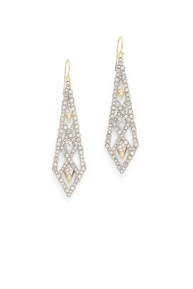Crystal Encrusted Lattice Earrings by Alexis Bittar