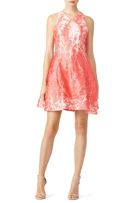 Coral Metallic Dress by Josie Natori