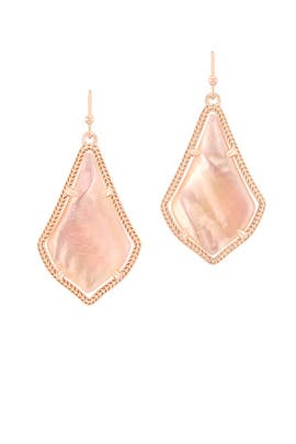 Rose Gold Alex Earrings by Kendra Scott