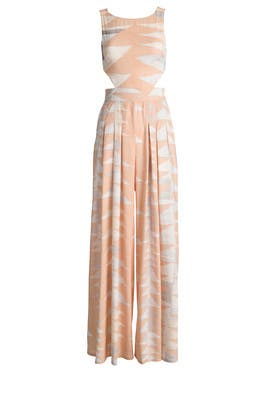 Peach Loom Jumpsuit by Mara Hoffman