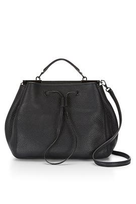Black India Drawstring Satchel by Rebecca Minkoff Handbags