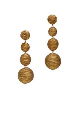 Gold Wrap Drop Earrings by Kenneth Jay Lane
