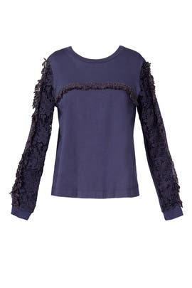 Lace Sleeve Top by See by Chloe