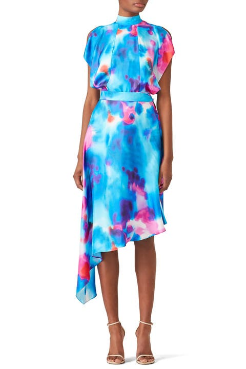 Shop Online Clearance Buy Tie-dye silk twill dress Msgm Cost Online Cheap Clearance Store KecVZzV