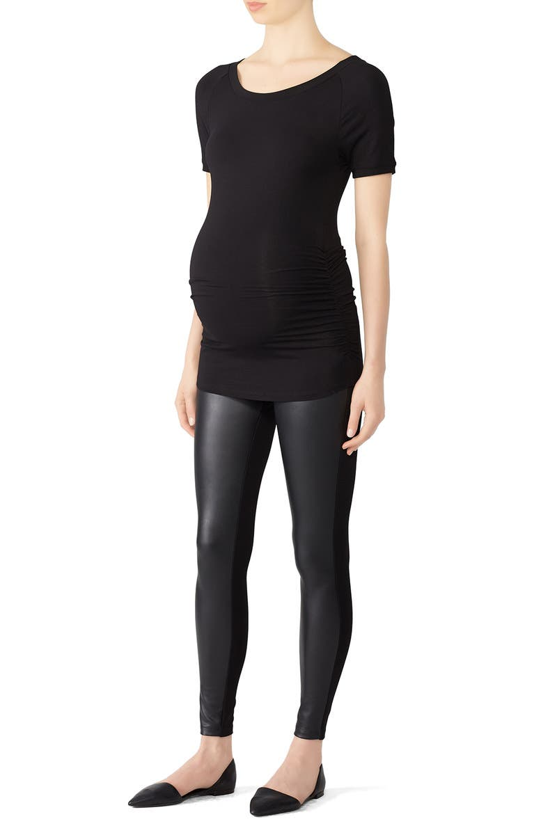 95a2b6a46dcd2 Faux Leather Maternity Leggings by Ingrid & Isabel for $30 | Rent the Runway