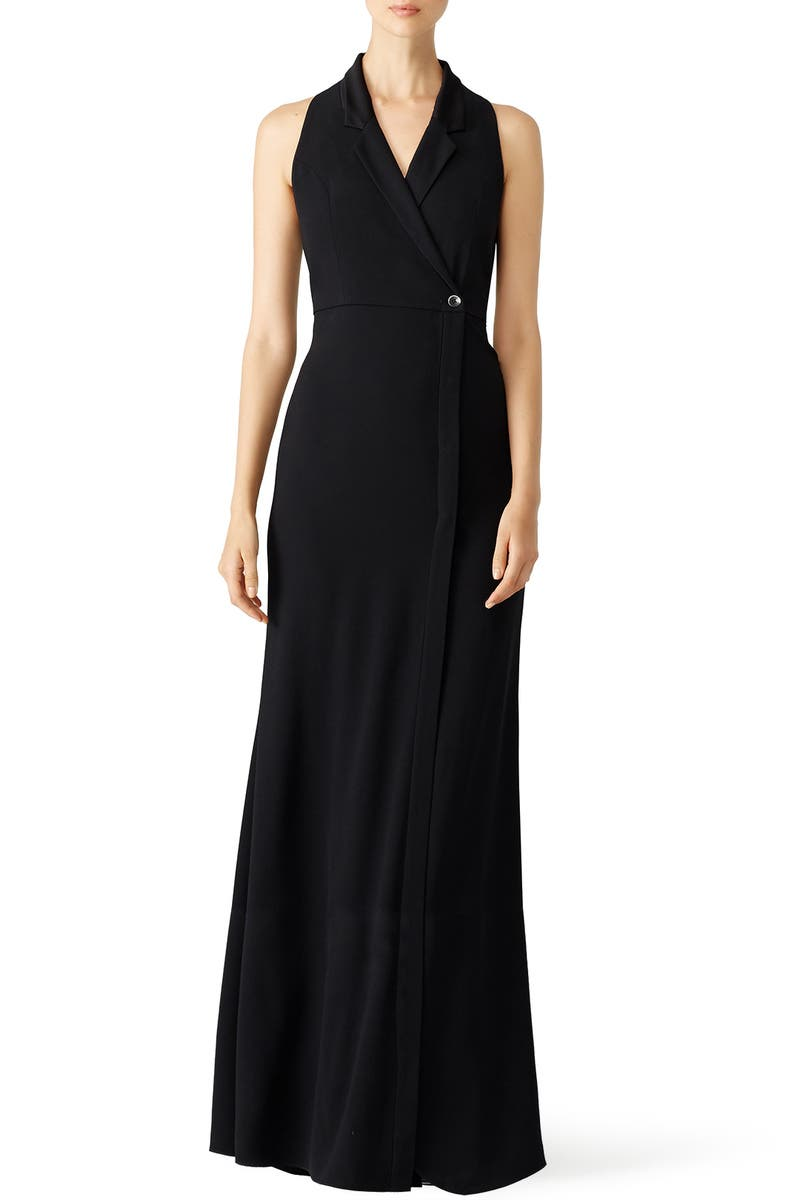Black Tux Gown by Haute Hippie for $75 - $95 | Rent the Runway