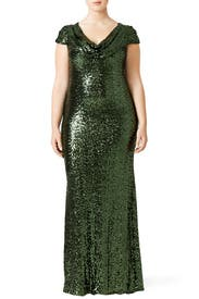 Emerald Scarlet Gown by Badgley Mischka