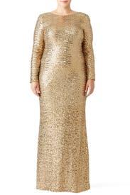 Gold Dara Gown by Badgley Mischka