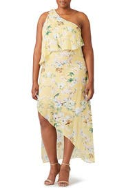 Yellow Floral Maxi by Slate & Willow