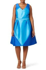 Blue Spear Dress by Theia