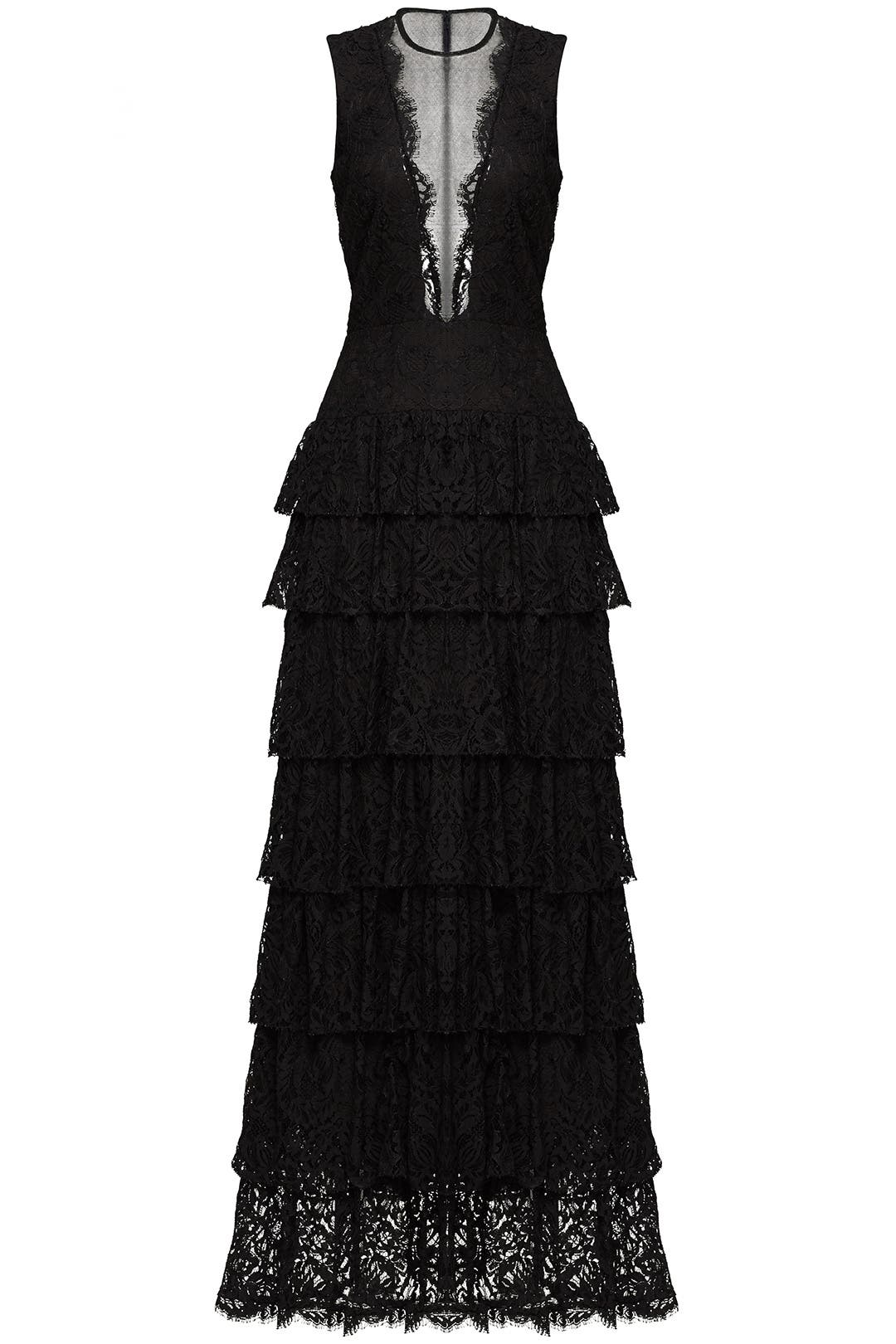 Black Lace Illusion Gown by Nicole Miller for $115 - $135 | Rent the ...