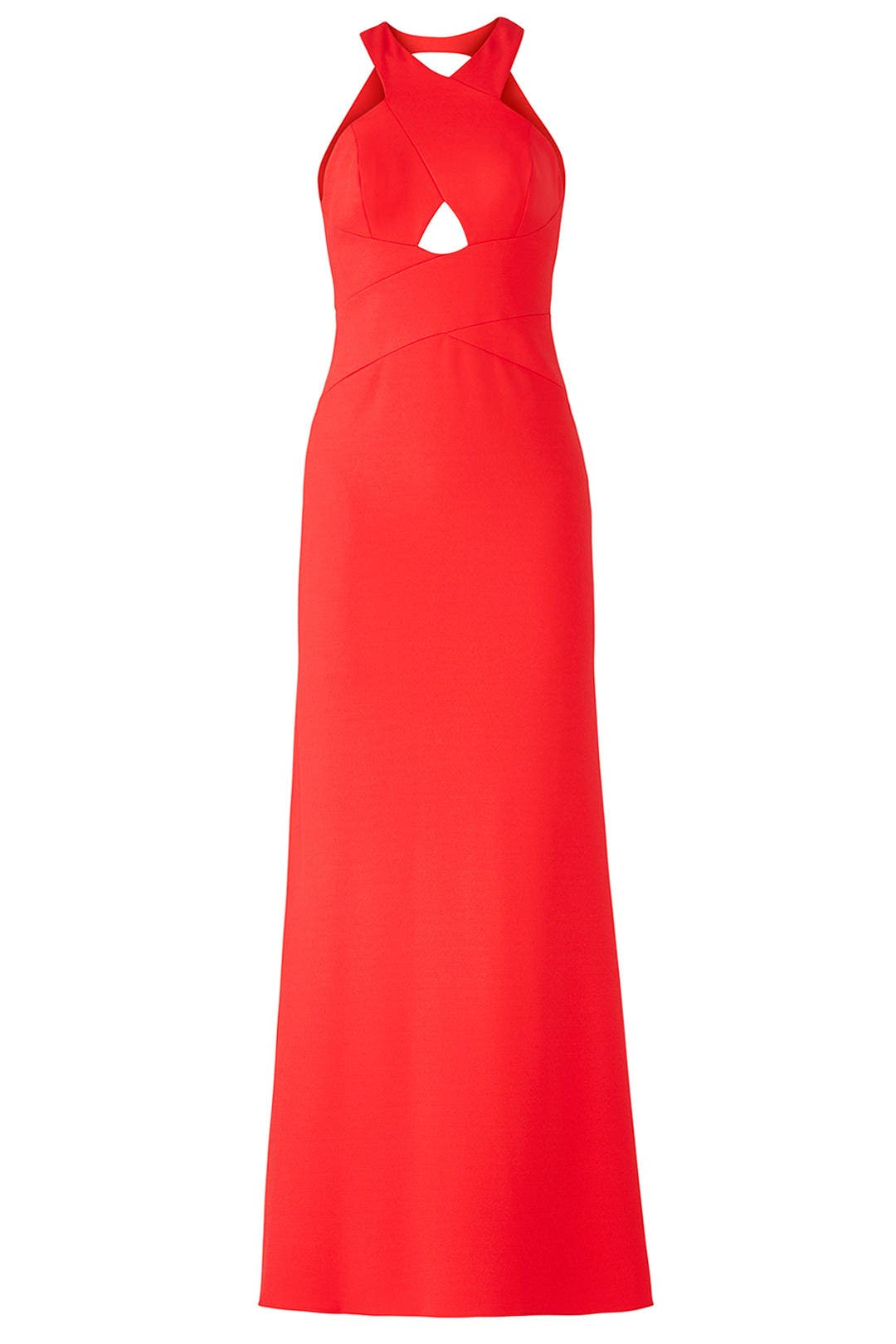 Red Cutout Halter Gown by Aidan Mattox for $40 - $60 | Rent the Runway
