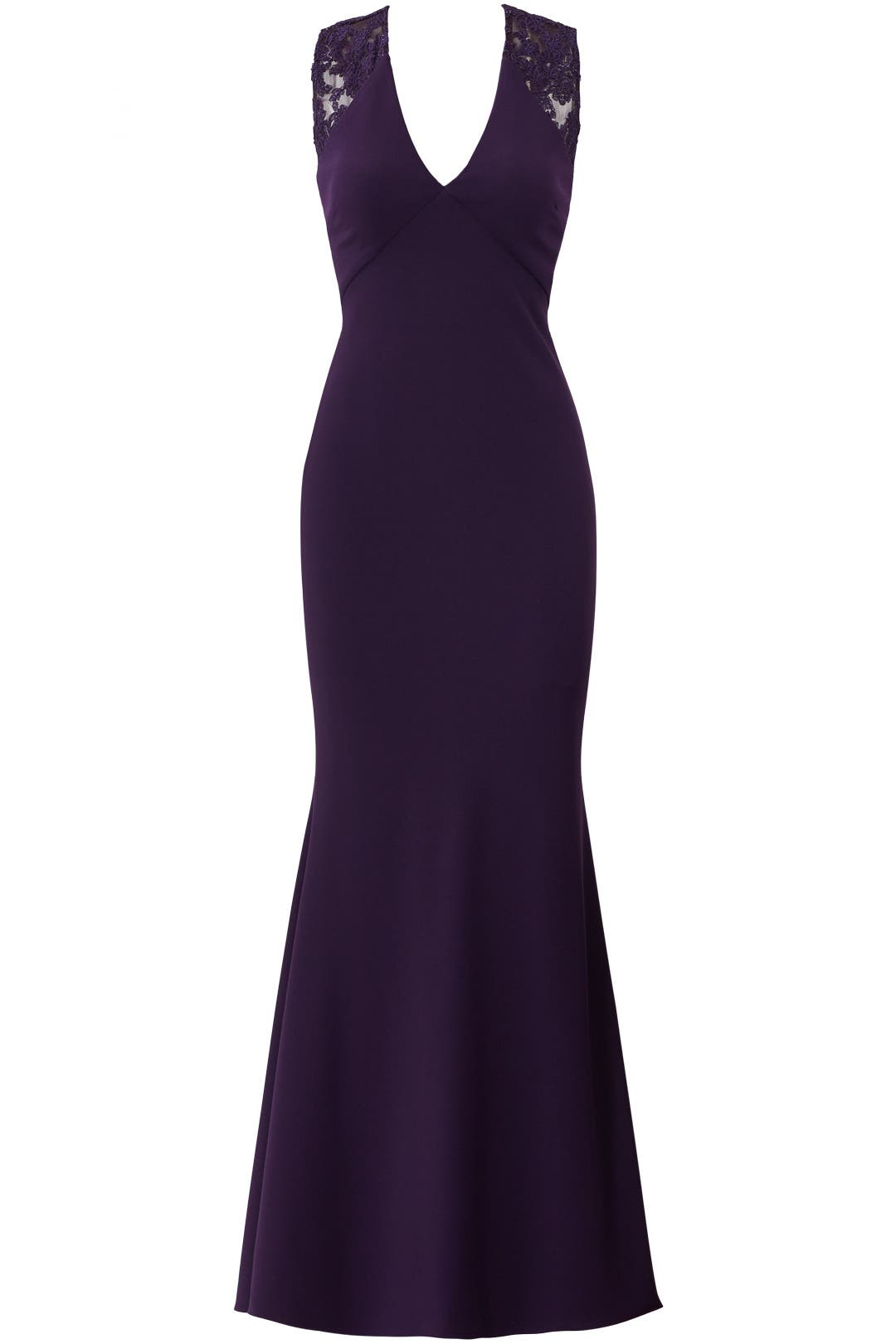 Eggplant Ottoman Gown by JS Collection for $70 | Rent the Runway