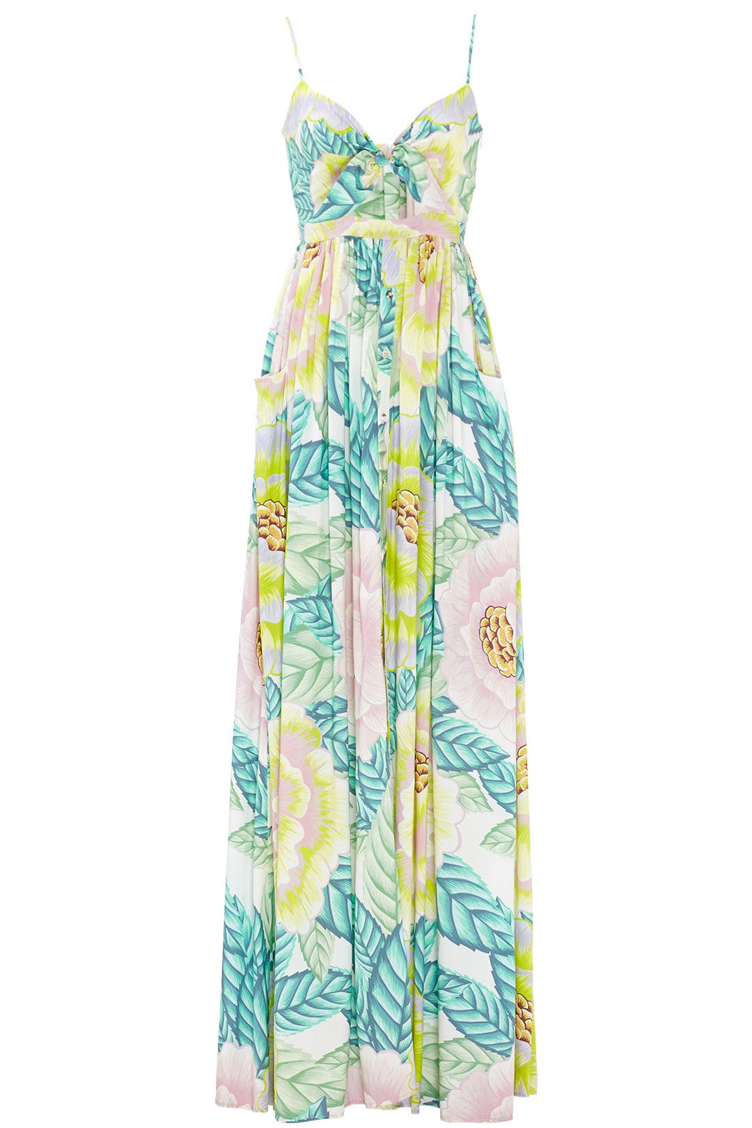 Flora Stone Tie Front Maxi Dress by Mara Hoffman for $70 - $85 ...