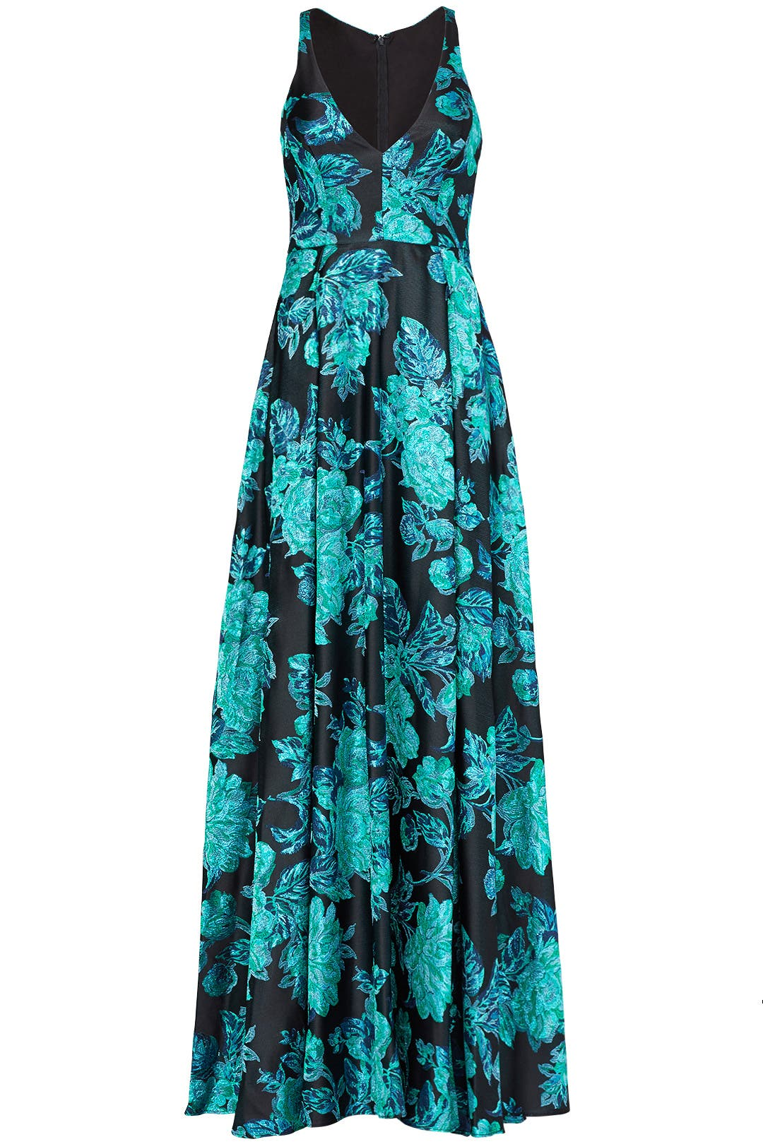 Teal Shimmer Gown by Badgley Mischka for $130 - $150 | Rent the Runway