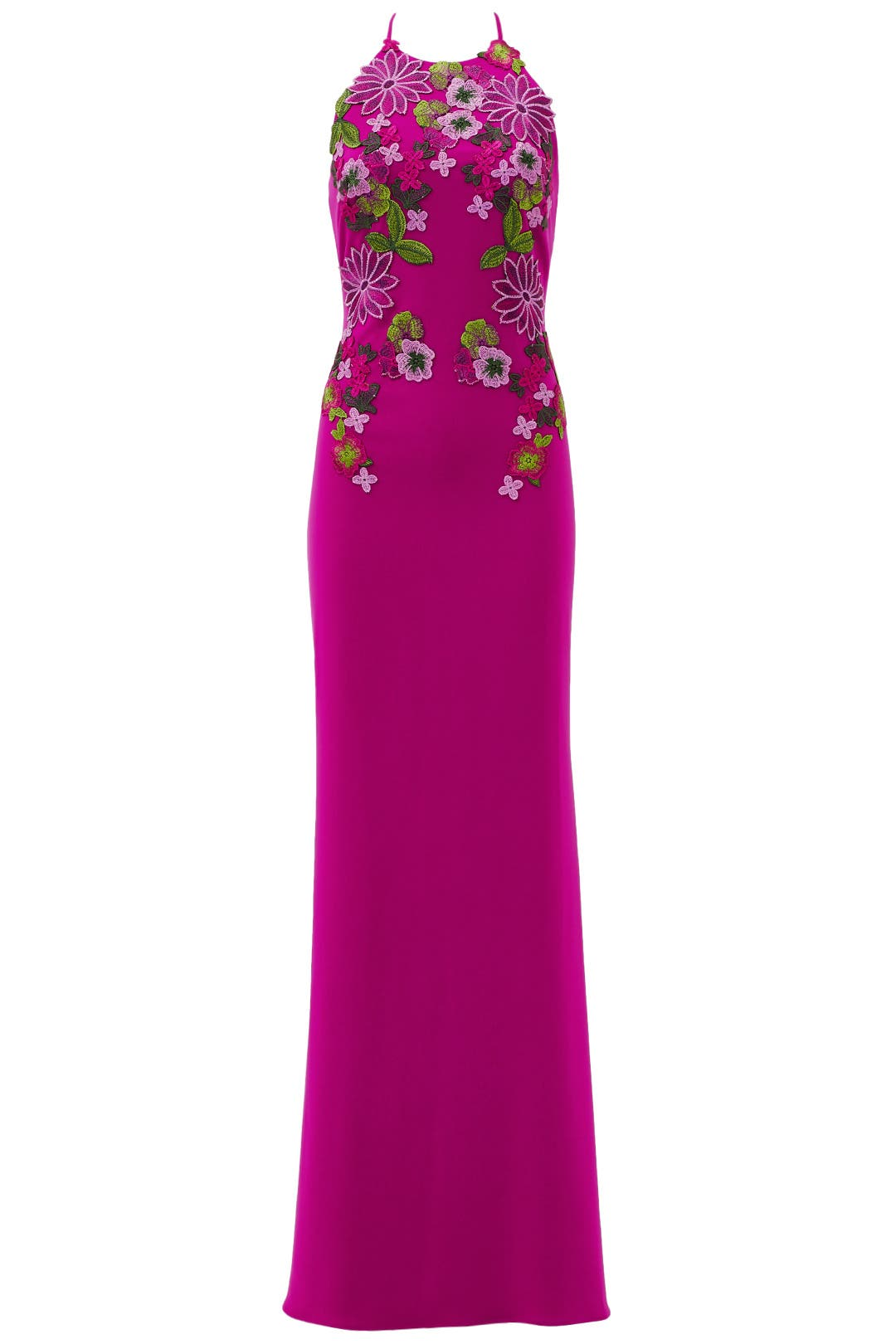 Pink Flower Power Gown by Badgley Mischka for $150 - $160 | Rent the ...