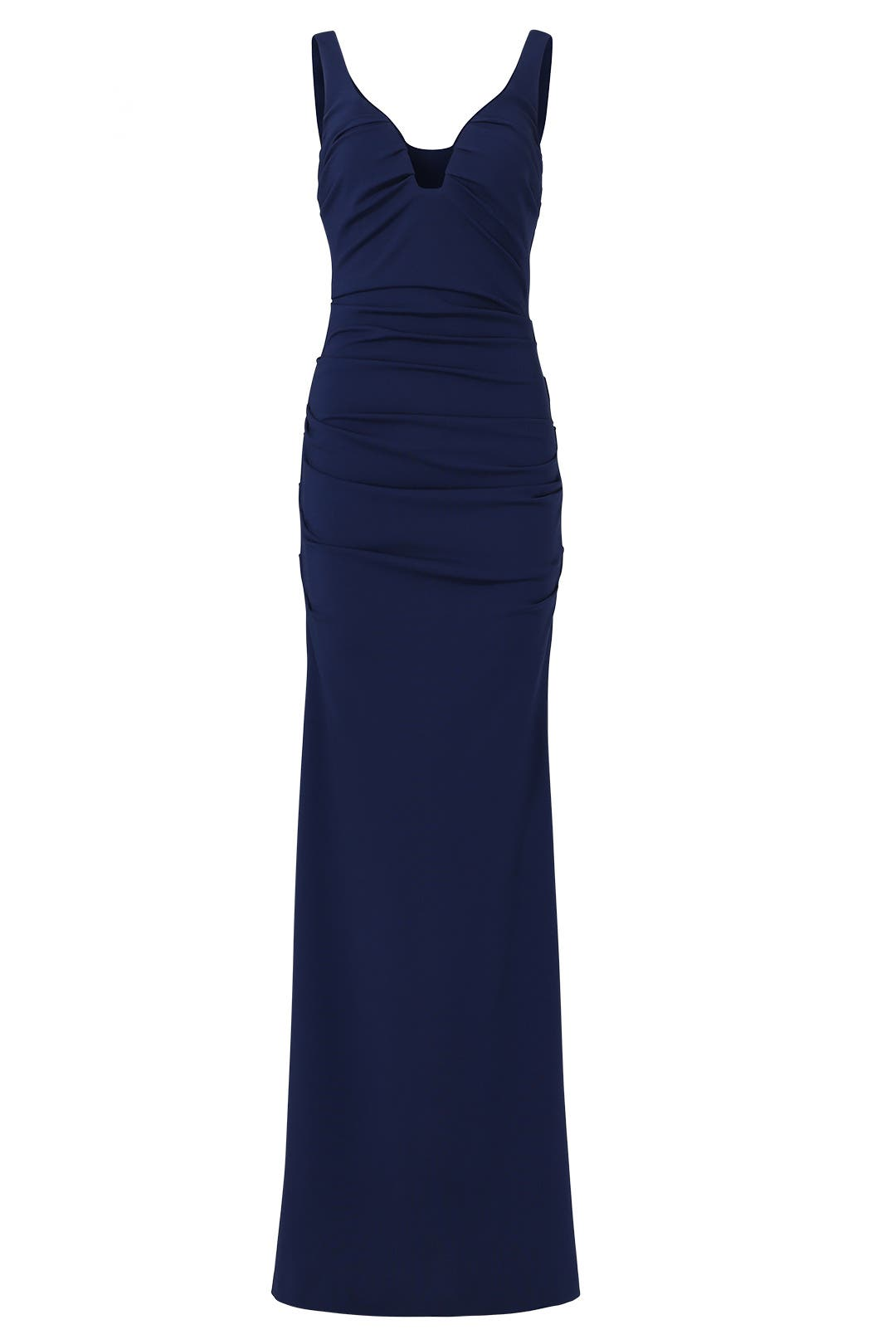 Navy Plunge Crepe Gown by Nicole Miller for $65 - $85 | Rent the Runway