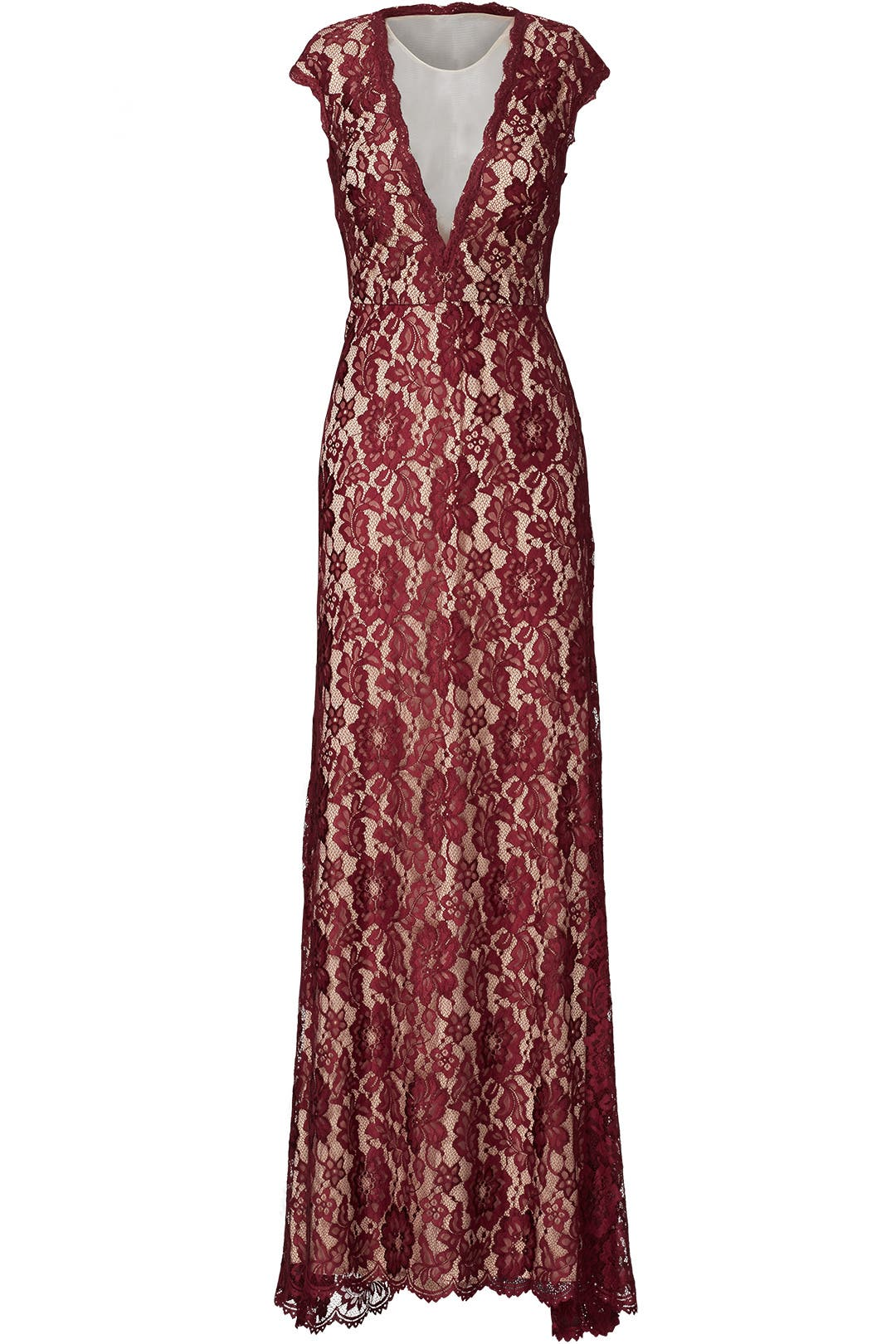 Maroon Romantic Ride Gown by LM Collection for $50 - $70   Rent the ...