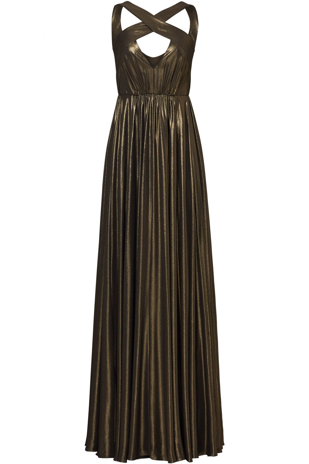 Bronze Flow Gown by Halston Heritage for $75   Rent the Runway