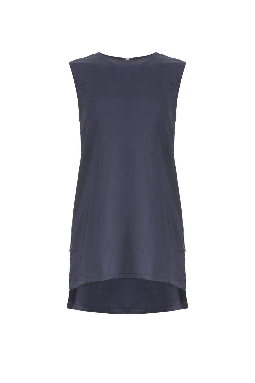376238dc2dfbd9 Navy Sleeveless Tank by Victor Alfaro for $155 | Rent the Runway