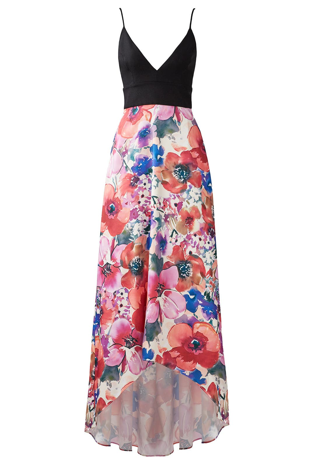 Bright Floral Gown by Badgley Mischka for $100 - $120   Rent the Runway