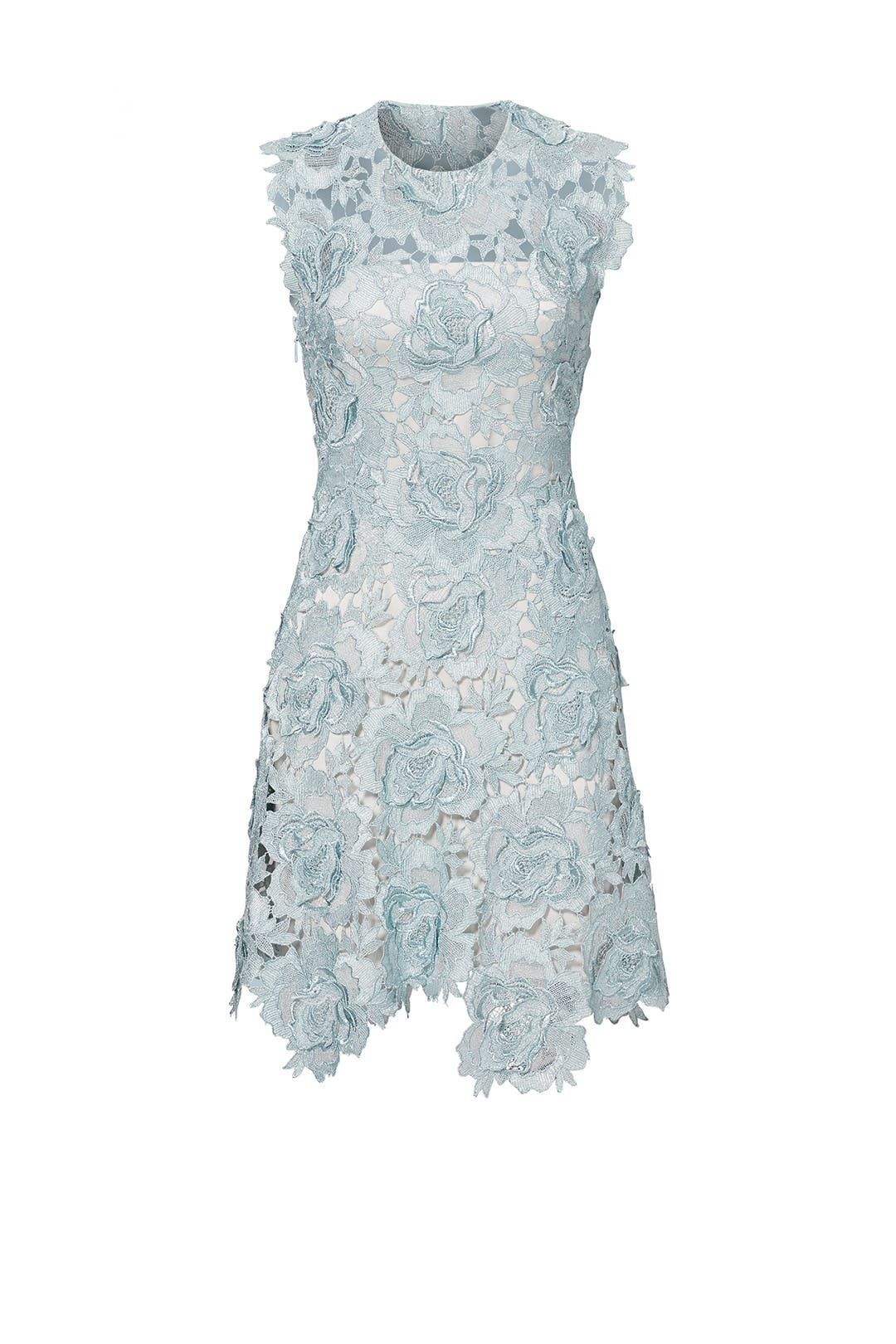 Rent the Runway Catherine Deane Blue Lace Dress
