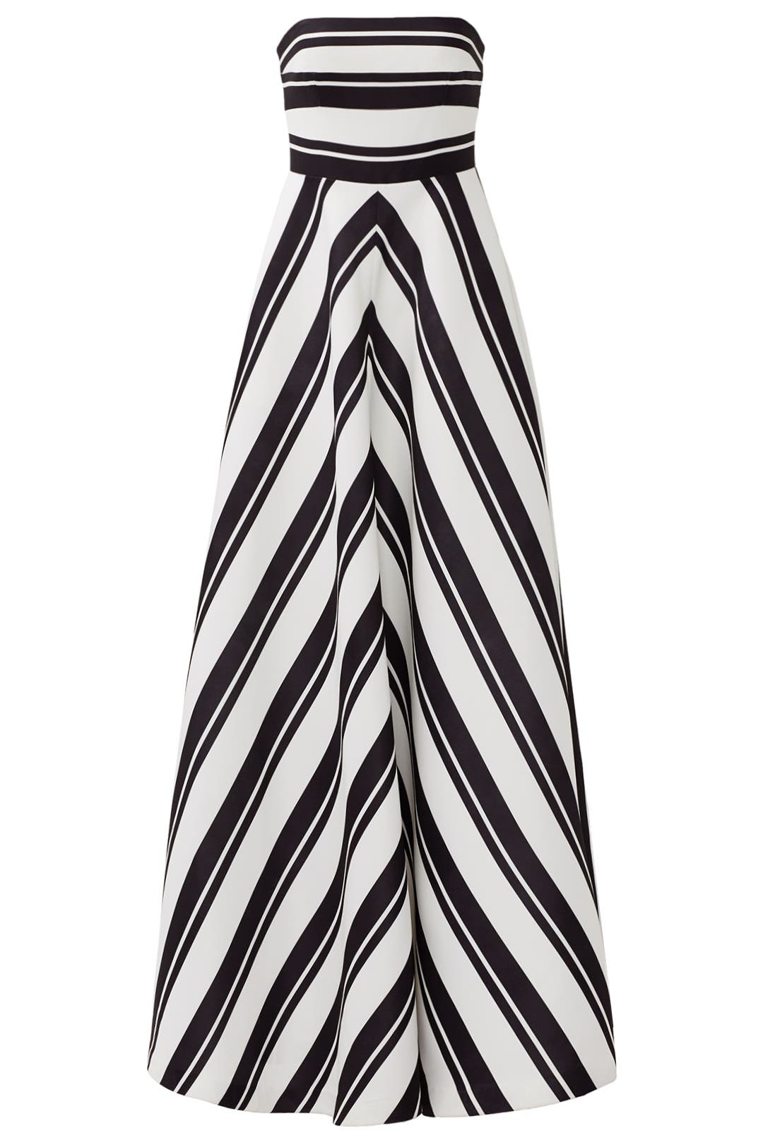 Barber Stripe Gown by Halston Heritage for $76 | Rent the Runway