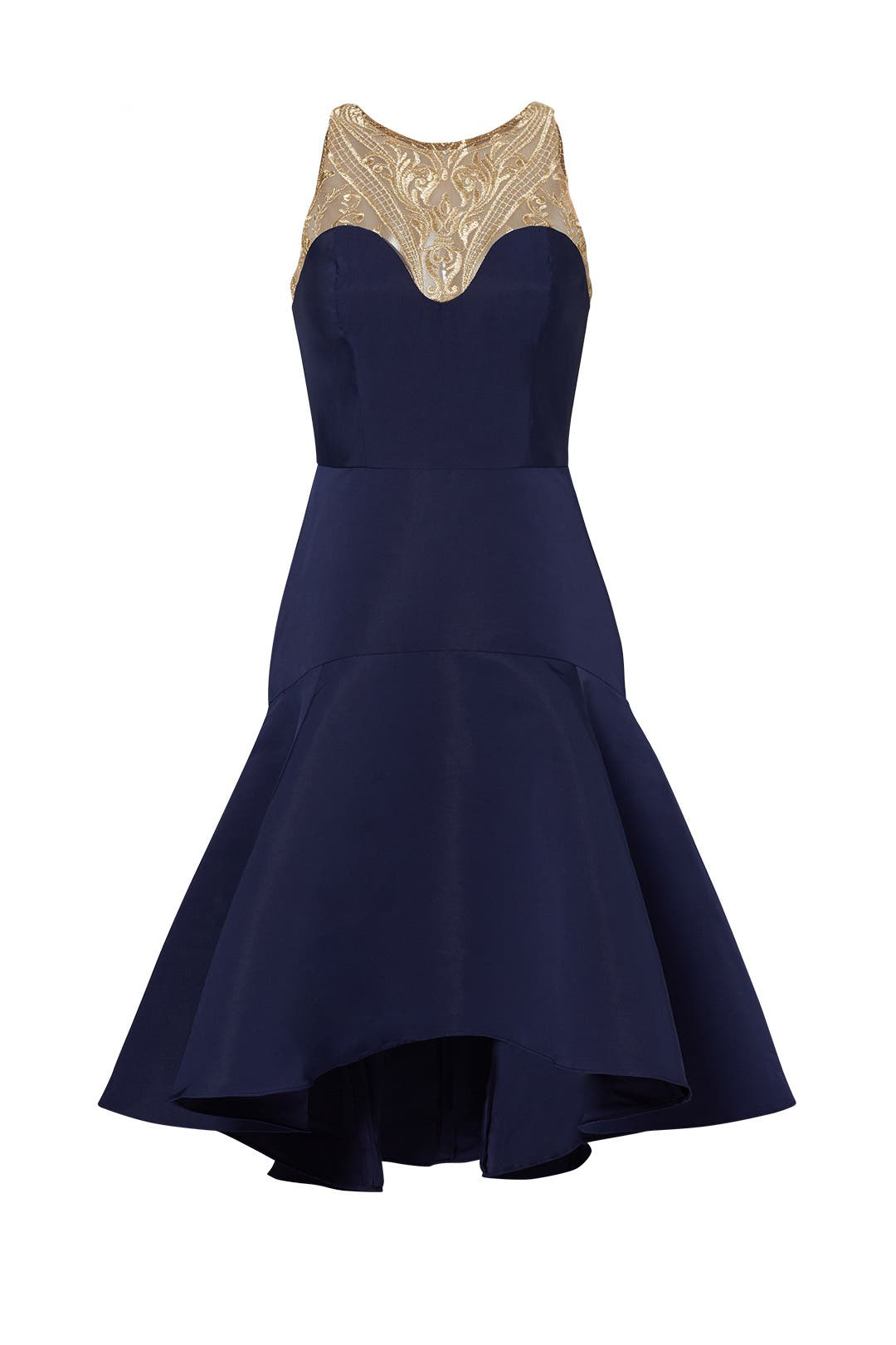 Clearance sale discounted dresses clothing rent the runway marchesa notte navy golden arch dress ombrellifo Choice Image