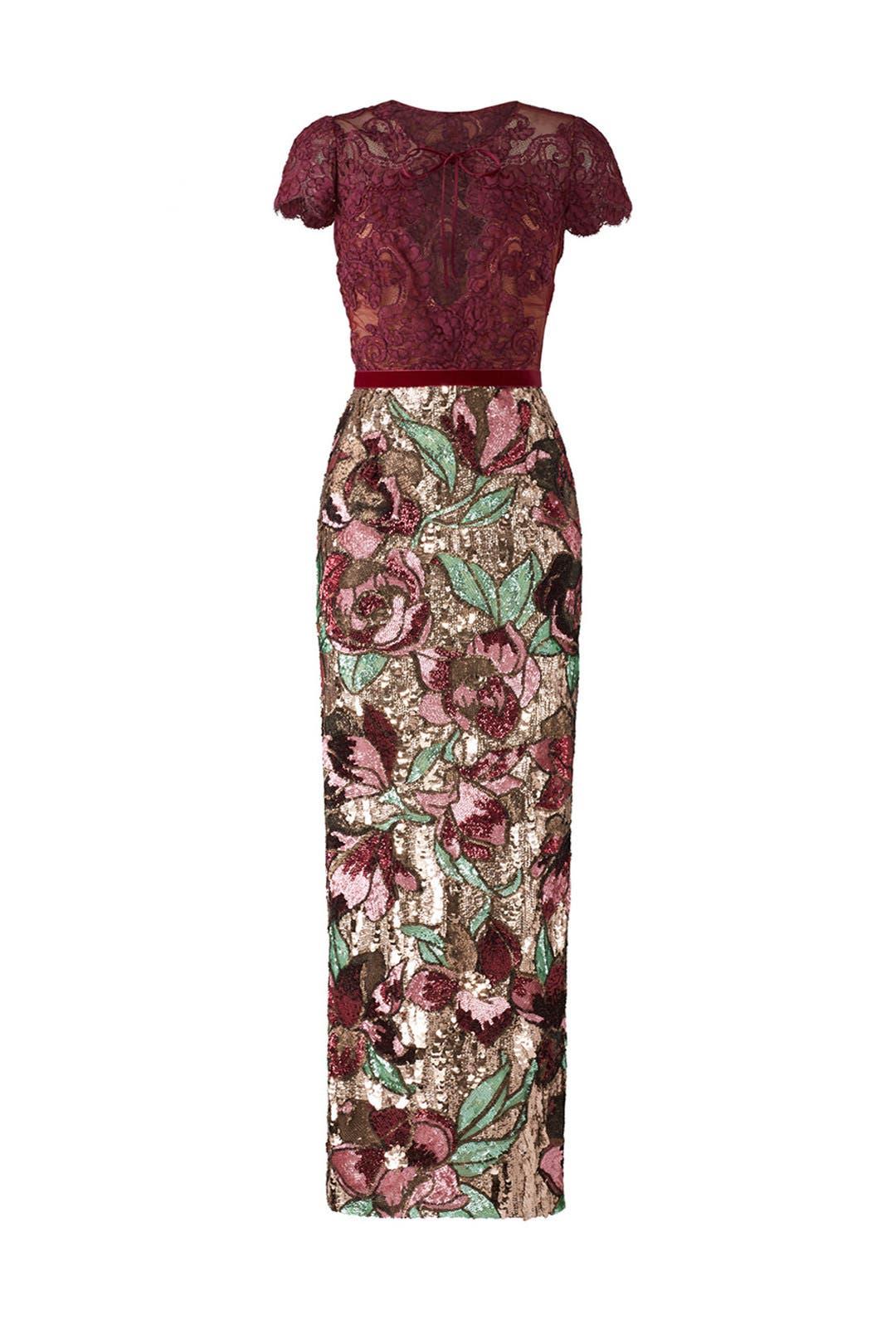 off-the-shoulder sequined dress - Pink & Purple Marchesa 0gyV7ewJhA
