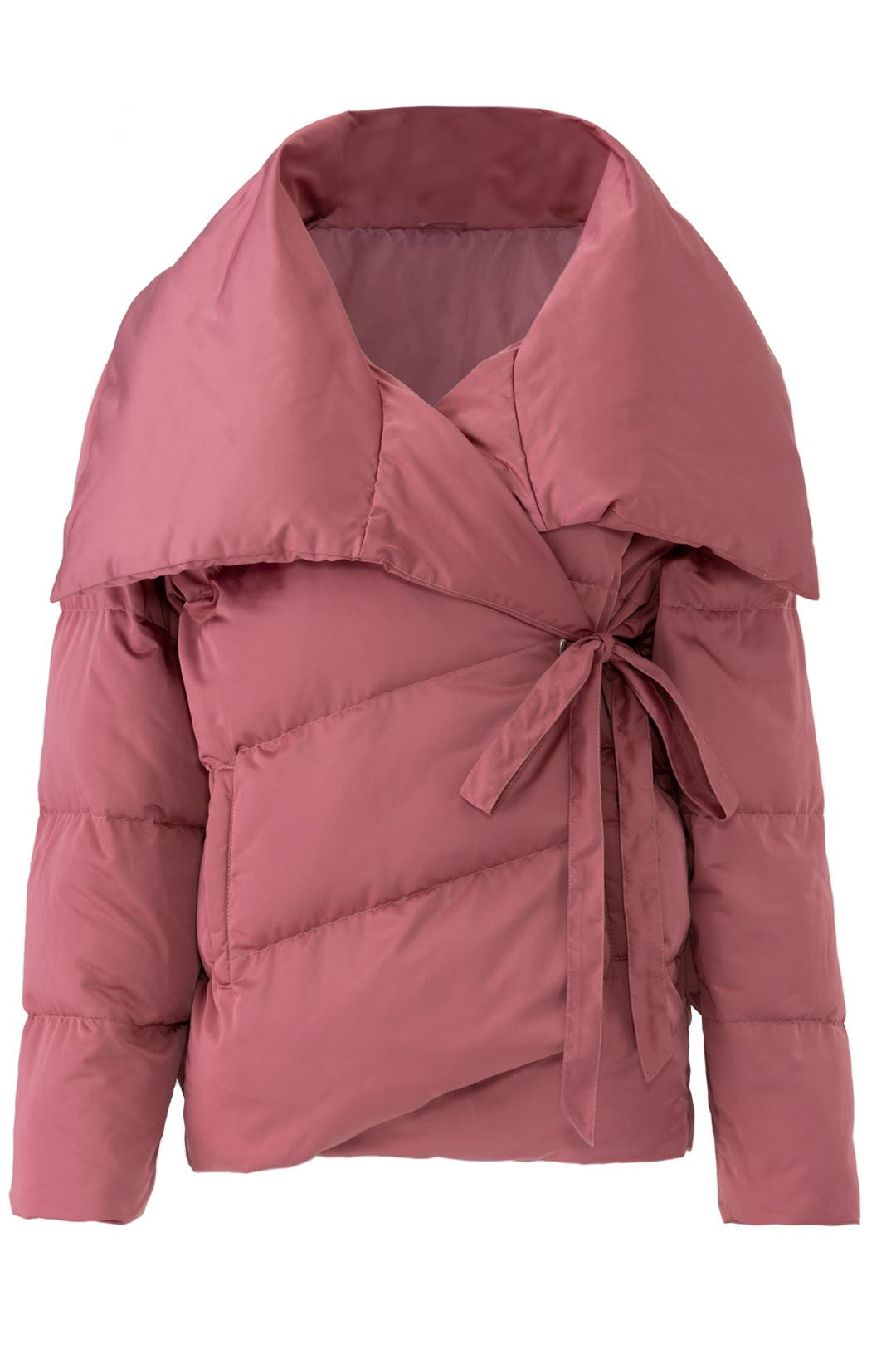 737cf832f44 Pink Wrap Puffer Jacket by Avec Les Filles for  30