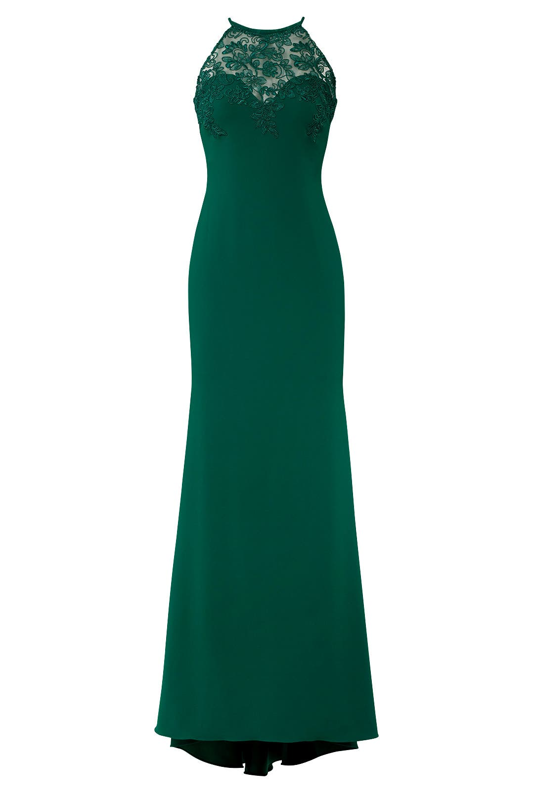 Emerald Lace Tyler Gown by Badgley Mischka for $75 - $95 | Rent the ...