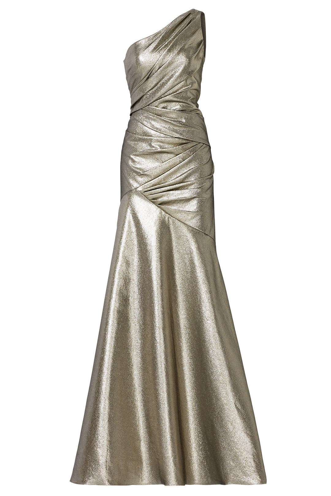 Liquid Silver Goddess Gown by Carmen Marc Valvo for $150 | Rent the ...
