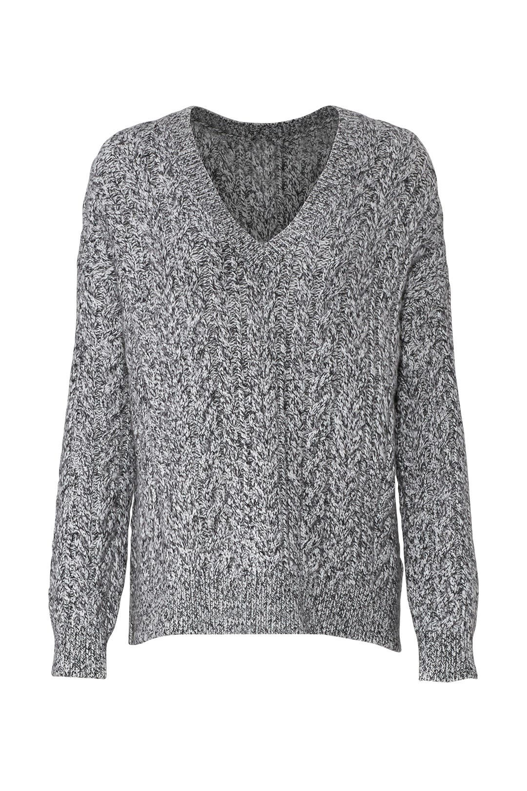 d3f592028d85 Grey Cable Sweater by VINCE. for  65