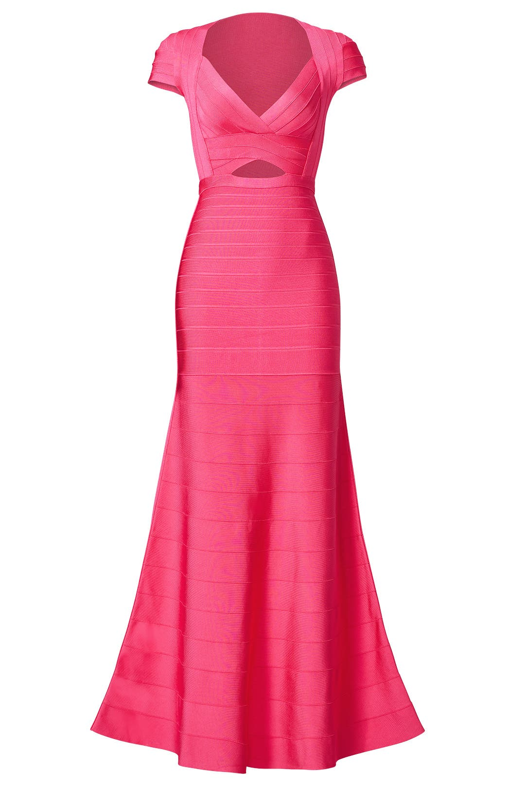 Pink Diamond Cutout Gown by Hervé Léger for $150 - $160   Rent the ...