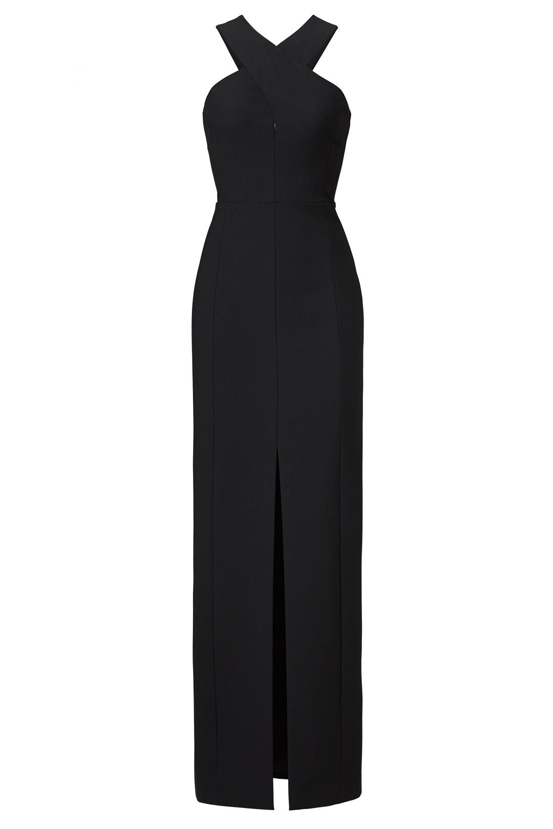 Black dress zipper back and forth