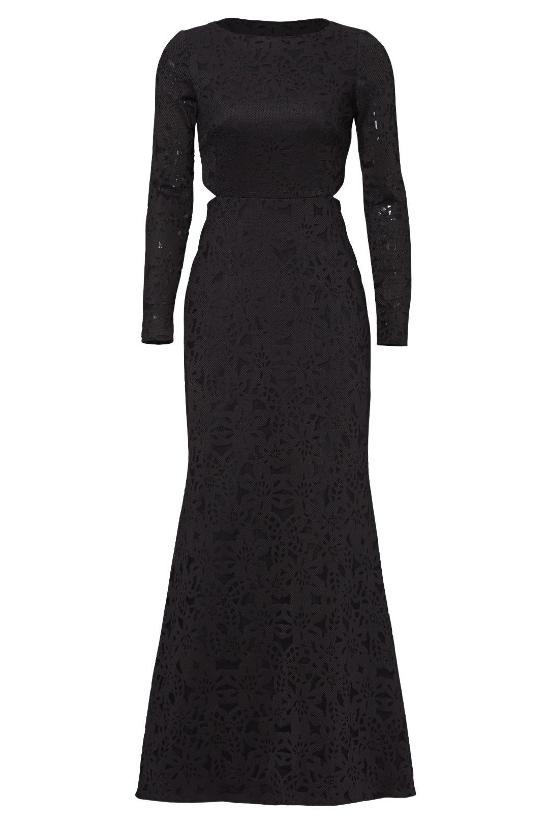 Black Floral Shadow Gown by ML Monique Lhuillier for $140   Rent the ...