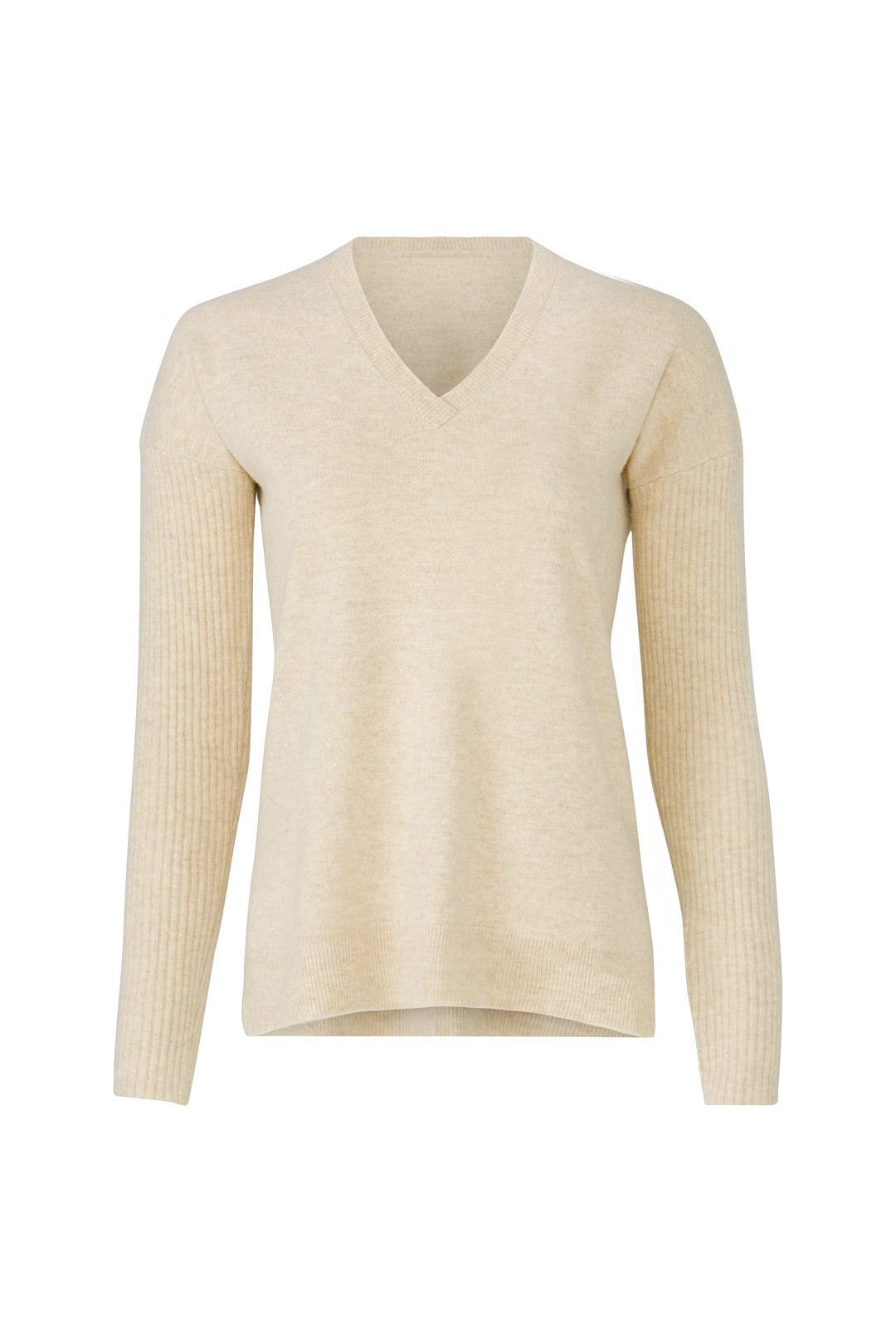 Cream Boyfriend Sweater by BROWN ALLAN for $30 | Rent the Runway
