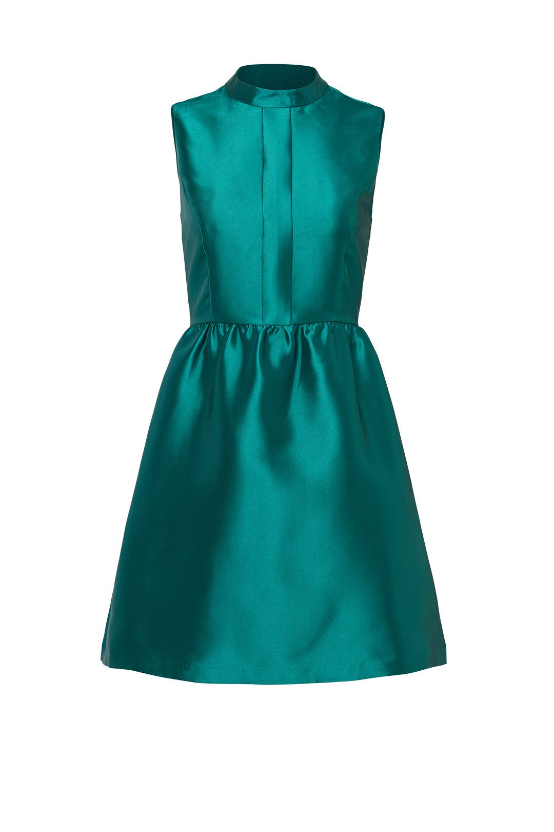 Emerald Satin Belle Dress by Slate & Willow for $50   Rent the Runway