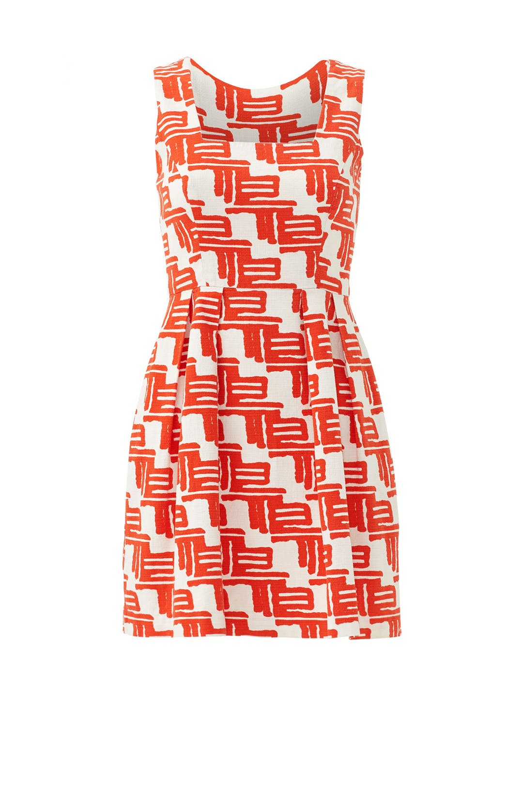 Citrus Tribal Flare Dress by Shoshanna