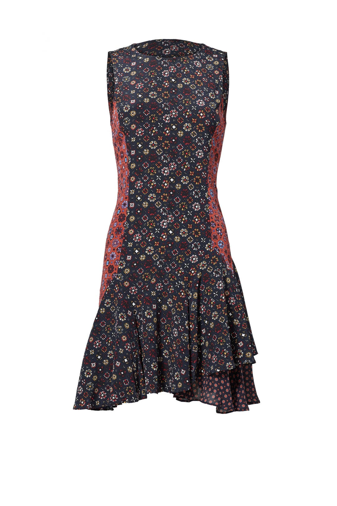 Derek Lam 10 Crosby Printed Silk Dress Cheap Real Eastbay Outlet Online Clearance Big Discount Discount Manchester Cheap Price Wholesale Djj9umx