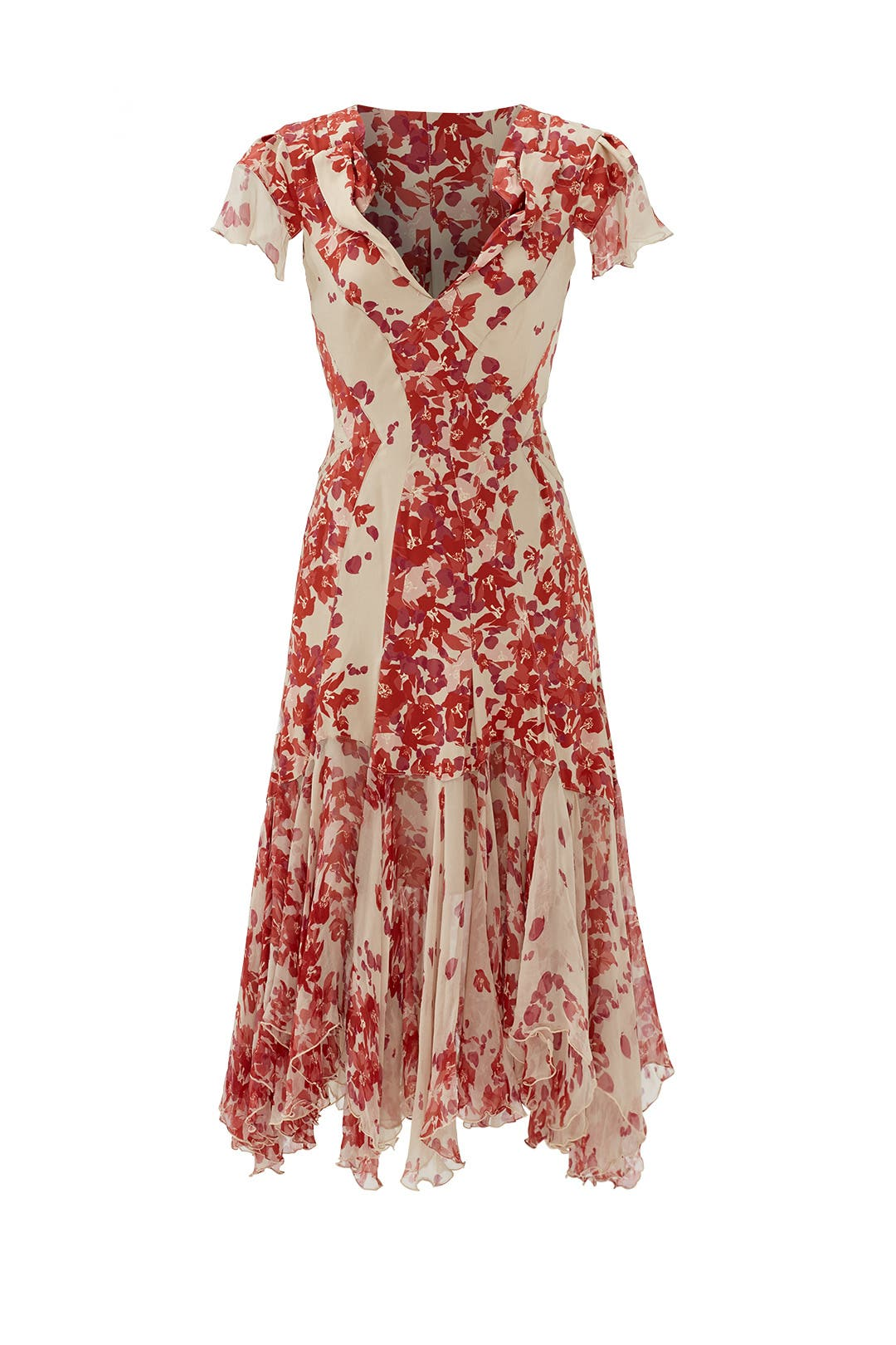 Hibiscus Print Silk Dress by ZAC Zac Posen