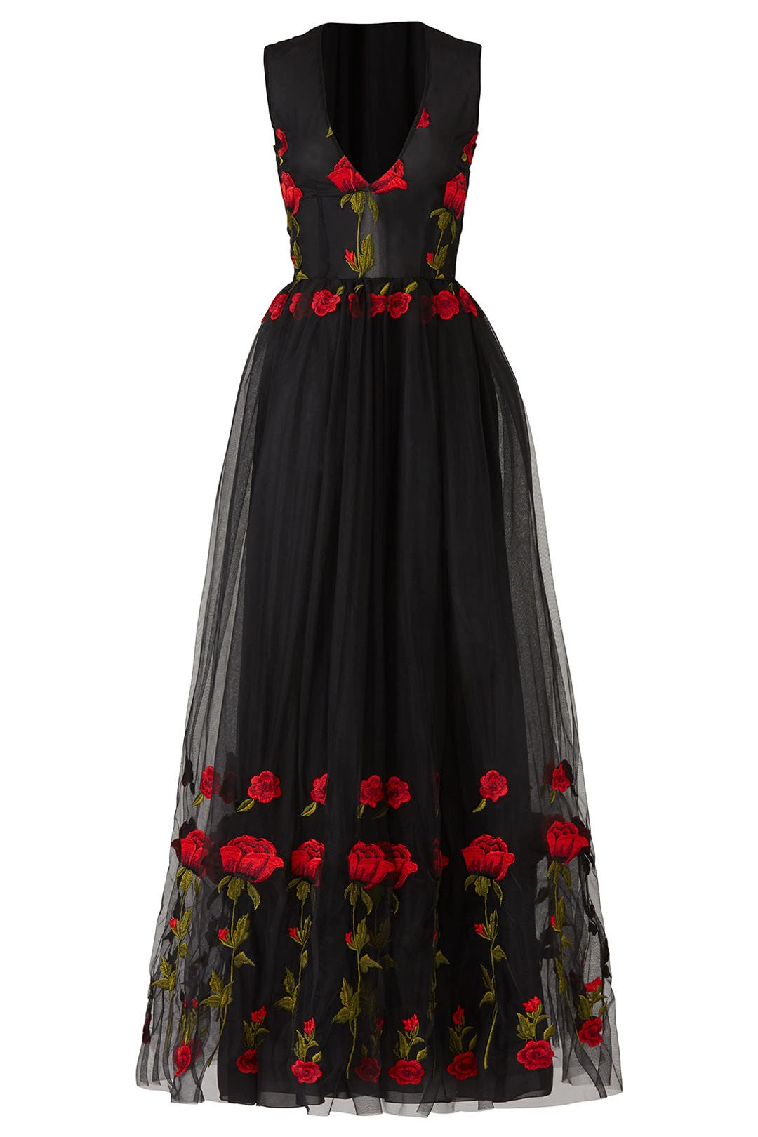 Red Rose Cake Dress by Alcoolique for $155 - $175   Rent the Runway