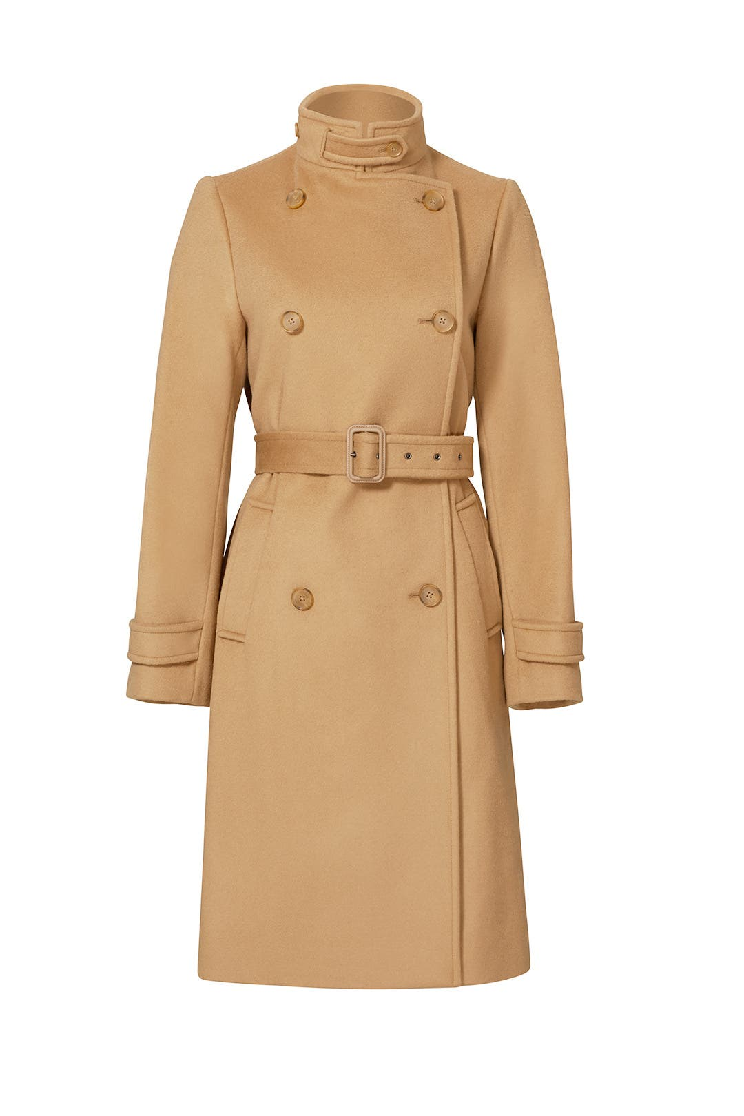 Wool Camel Trench Coat by VINCE. for $125 | Rent the Runway