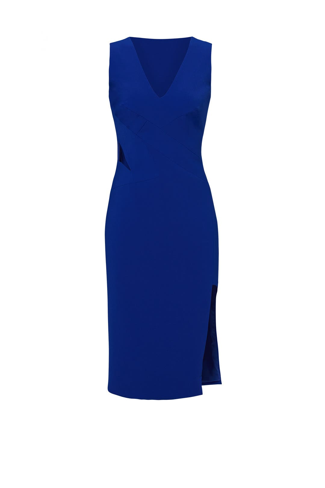 Cobalt Poise Dress By Gabriela Cadena For 170 Rent The Runway I Am Cotton Sleeveless Romper Blue Sea